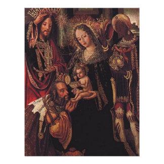 Klok manar som besöker babyen Jesus Reklamblad 21,5 X 30 Cm