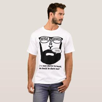 Klokt skäggnågot att sägaben tee shirts