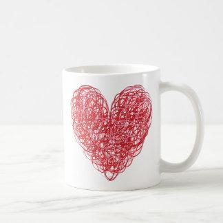 Klottra hjärtamuggen kaffemugg