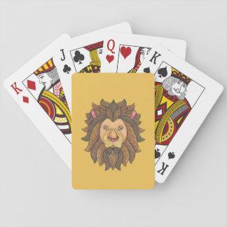 Klottrade lejona leka kort spel kort