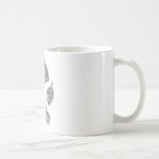klottrat prärievargtryck kaffemugg