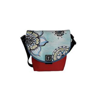 Klottret blommar mini- messenger bag