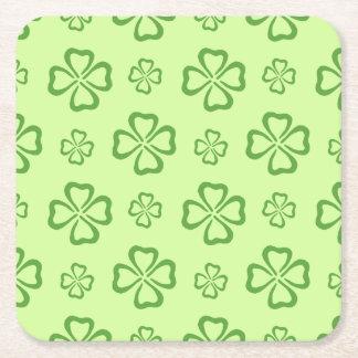 klöver 4-Leaf för tur Underlägg Papper Kvadrat