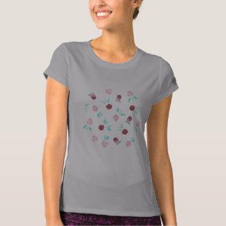 Klöver blommar kvinna kapacitetsT-tröja T Shirt