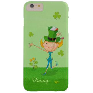 Klöver för Shamrock för gullig irländsk Barely There iPhone 6 Plus Fodral