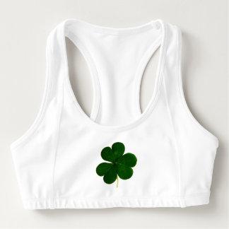 Klöver för Shamrock för lyckliga Sts Patrick dag Sport-BH