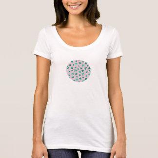 Klöverlövkvinnor kammar hem nackeT-tröja T-shirts