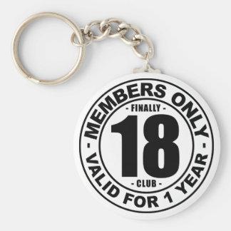 Klubb slutligen 18 rund nyckelring