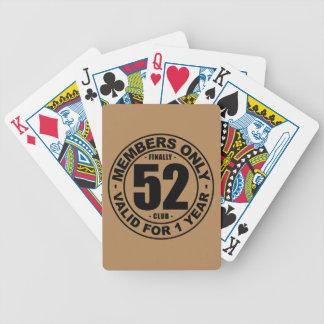 Klubb slutligen 52 spelkort