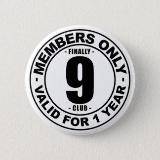 Klubb slutligen 9 standard knapp rund 5.7 cm