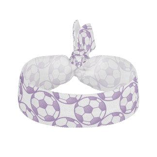 Klumpa ihop sig purpurfärgad fotboll för flickor hårband