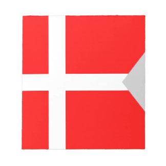 Kluven Danmark flagga Antecknings Block