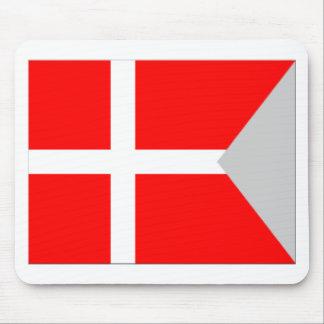 Kluven Danmark flagga Mus Matta