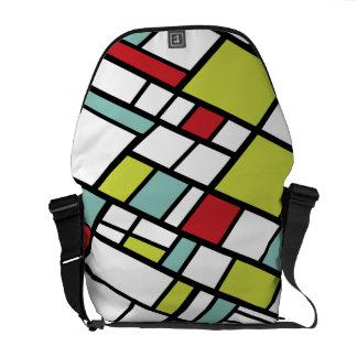 Kluven kompletterande modern abstrakt för innegrej kurir väskor