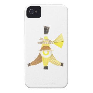 Kluvet IPhone 4 för banan fodral iPhone 4 Hud