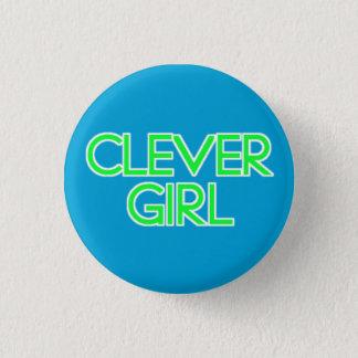 Klyftig flicka mini knapp rund 3.2 cm