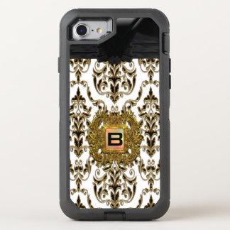 Klysworth flickaktigt damastast elegant Monogram OtterBox Defender iPhone 7 Skal