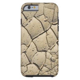 Knäckt lerabildande i dalgolv av 2 tough iPhone 6 skal
