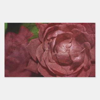 Knäckt röd ros av Shirley Taylor Rektangulärt Klistermärke