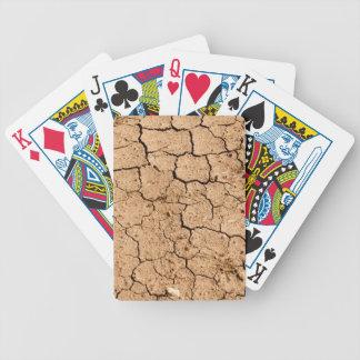 Knäckt slipat eller smuts spelkort