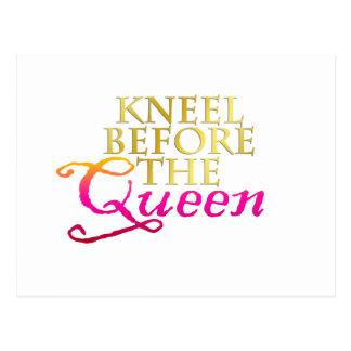 Knäfalla för drottningen vykort