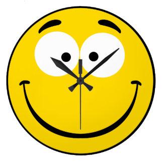 Knäpp Smiley Stor Klocka