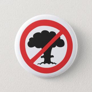 Knäppas: anti kärnvapensymbol standard knapp rund 5.7 cm