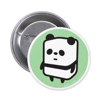 Knäppas - boxas pandaen - grönt standard knapp rund 5.7 cm