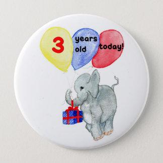 """Knäppas den 3rd födelsedagen """"för jumbon"""" stor knapp rund 10.2 cm"""