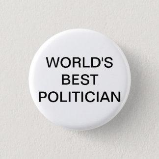 Knäppas den bäst politikar för världar mini knapp rund 3.2 cm