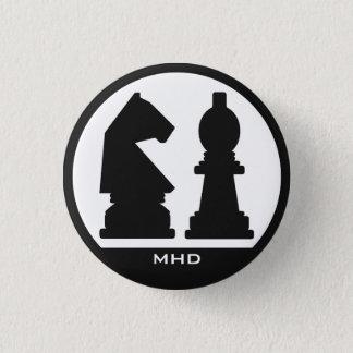 Knäppas den beställnings- monogramen för SCHACKET Mini Knapp Rund 3.2 Cm
