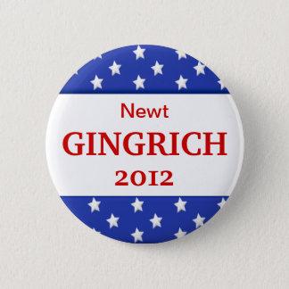 Knäppas den Gingrich kampanjen 2012 Standard Knapp Rund 5.7 Cm