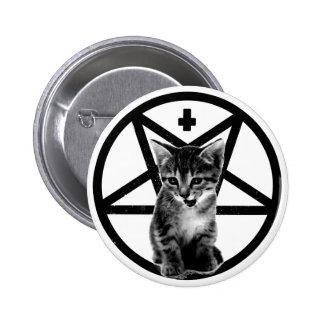 Knäppas den ilskna kattungen inverterade kor & pen standard knapp rund 5.7 cm