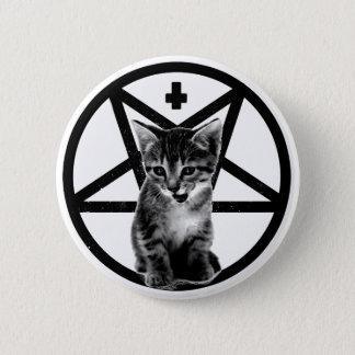 Knäppas den ilskna kattungen inverterade kor & standard knapp rund 5.7 cm
