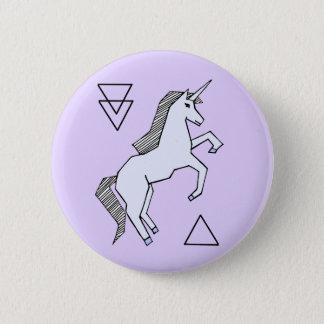Knäppas den purpurfärgade unicornen för gullig standard knapp rund 5.7 cm