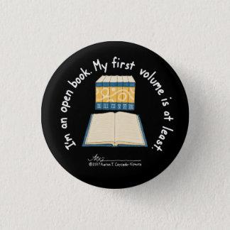 Knäppas den små svarten för öppen bok mini knapp rund 3.2 cm