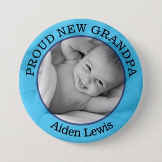 Knäppas den stolt nya farfadern för pojkeblått mellanstor knapp rund 7.6 cm