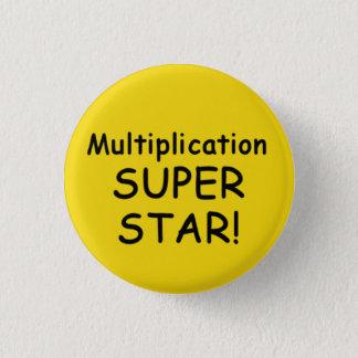 Knäppas den toppna stjärnan för multiplikation mini knapp rund 3.2 cm