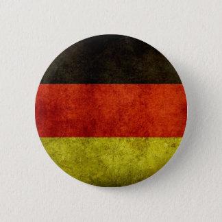 Knäppas den tyska flagga för Grunge Standard Knapp Rund 5.7 Cm