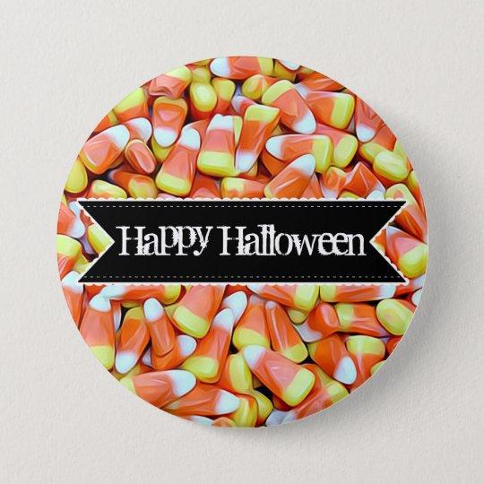 Knäppas färgrik candy corn för happy halloween mellanstor knapp rund 7.6 cm