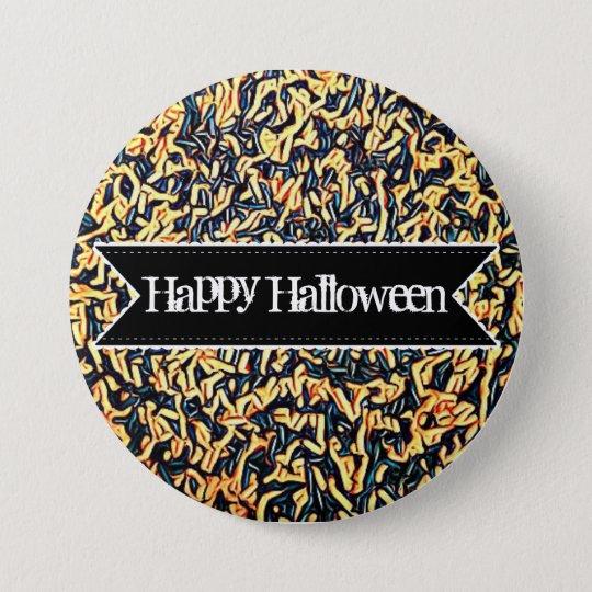 Knäppas färgrika godisstänk för happy halloween mellanstor knapp rund 7.6 cm