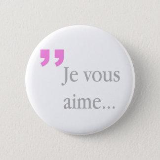 Knäppas fransk vit för JE VOUS AIME Standard Knapp Rund 5.7 Cm