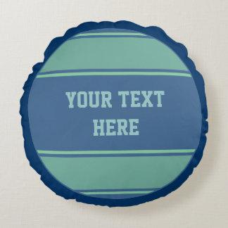 KNÄPPAS grönt för blått för RUNDArandhav + din idé Rund Kudde