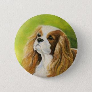 """Knäppas konst för hunden """"för den stolt spanielen standard knapp rund 5.7 cm"""