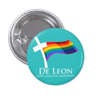 Knäppas kristna missioner för De Leon LGBT Mini Knapp Rund 3.2 Cm