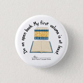Knäppas liten vit för den öppna boken mini knapp rund 3.2 cm