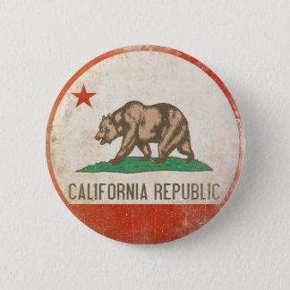 Knäppas med bekymrad Kalifornien republikflagga Standard Knapp Rund 5.7 Cm