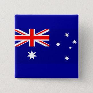 Knäppas med flagga av Australien Standard Kanpp Fyrkantig 5.1 Cm