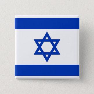 Knäppas med flagga av Israel Standard Kanpp Fyrkantig 5.1 Cm