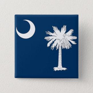 Knäppas med flagga av South Carolina Standard Kanpp Fyrkantig 5.1 Cm